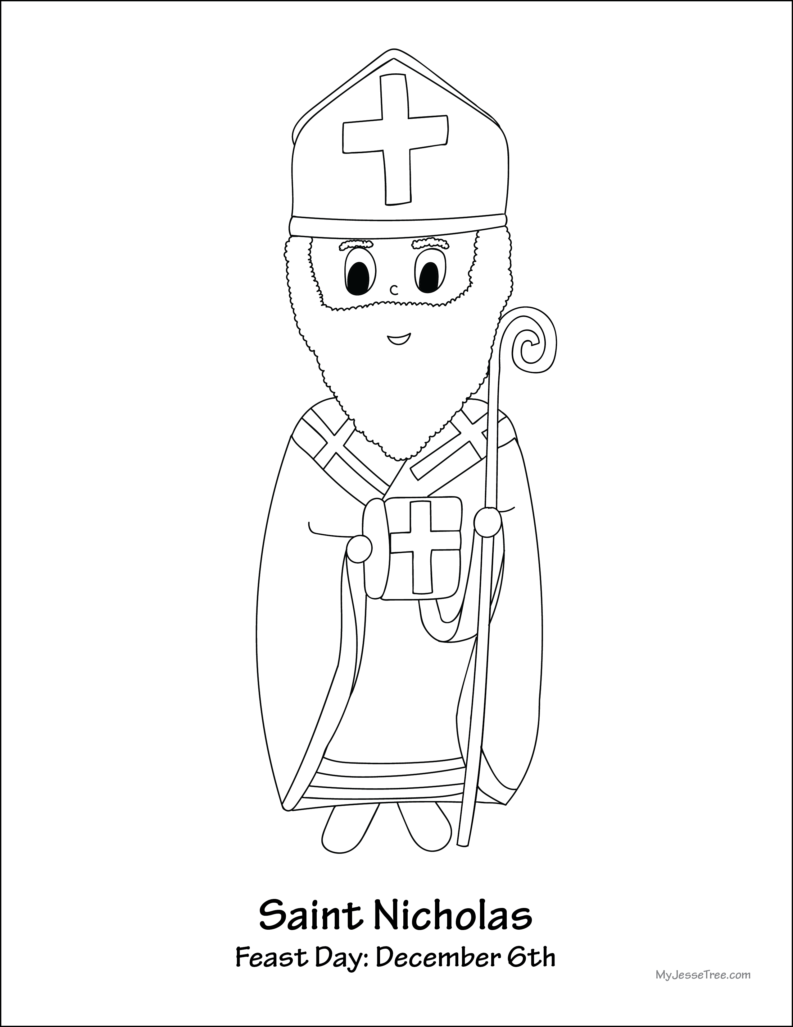st nicholas coloring page saints coloring pages catholic playground page coloring nicholas st