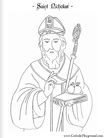 st nicholas coloring page the big christian family m z nicholas page coloring st