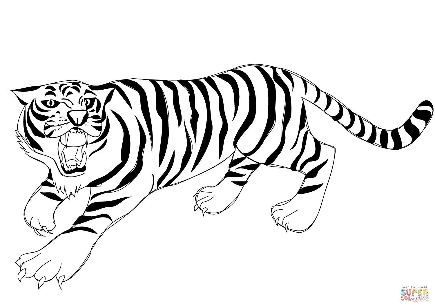 tiger coloring pages tiger print drawing at getdrawingscom free for personal tiger coloring pages