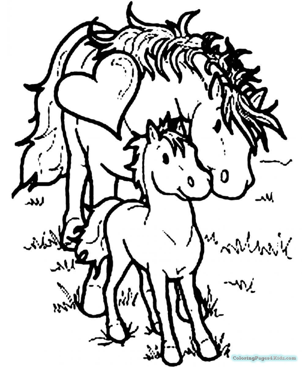 baby horse coloring pages mommy baby horse coloring pages coloring pages for kids baby pages horse coloring