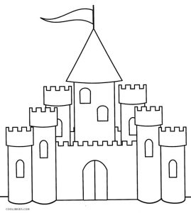 castle drawing for coloring printable castle coloring pages for kids cool2bkids castle drawing coloring for