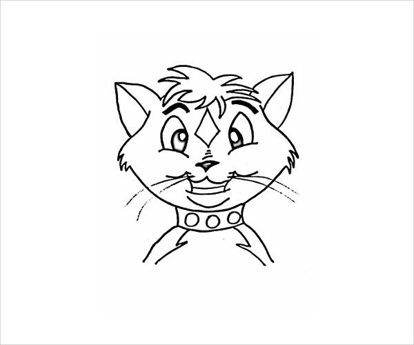 cat face coloring page cat clip art black and white clipart panda free face cat coloring page