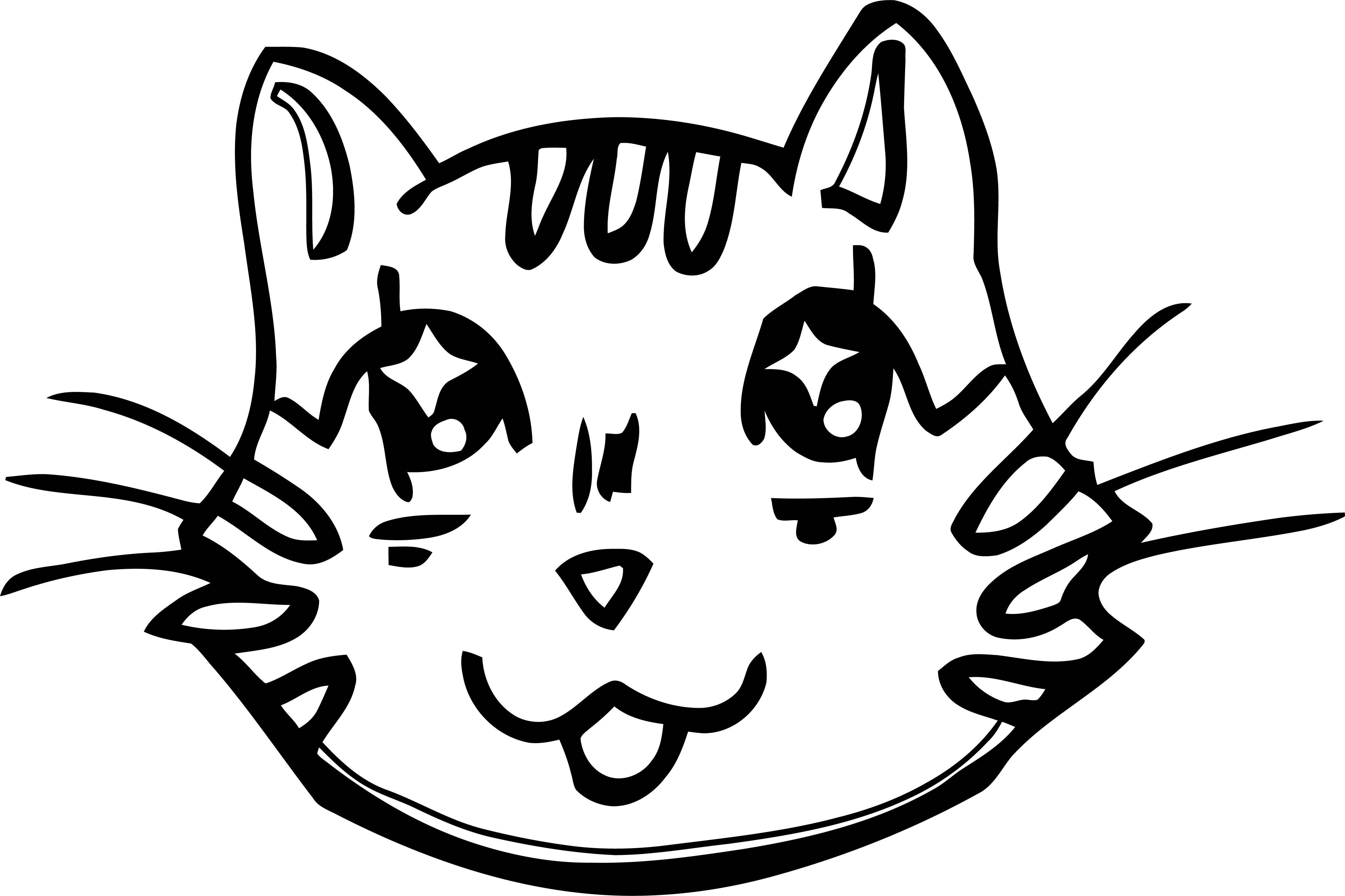 cat face coloring page cat face template clipartsco face cat coloring page