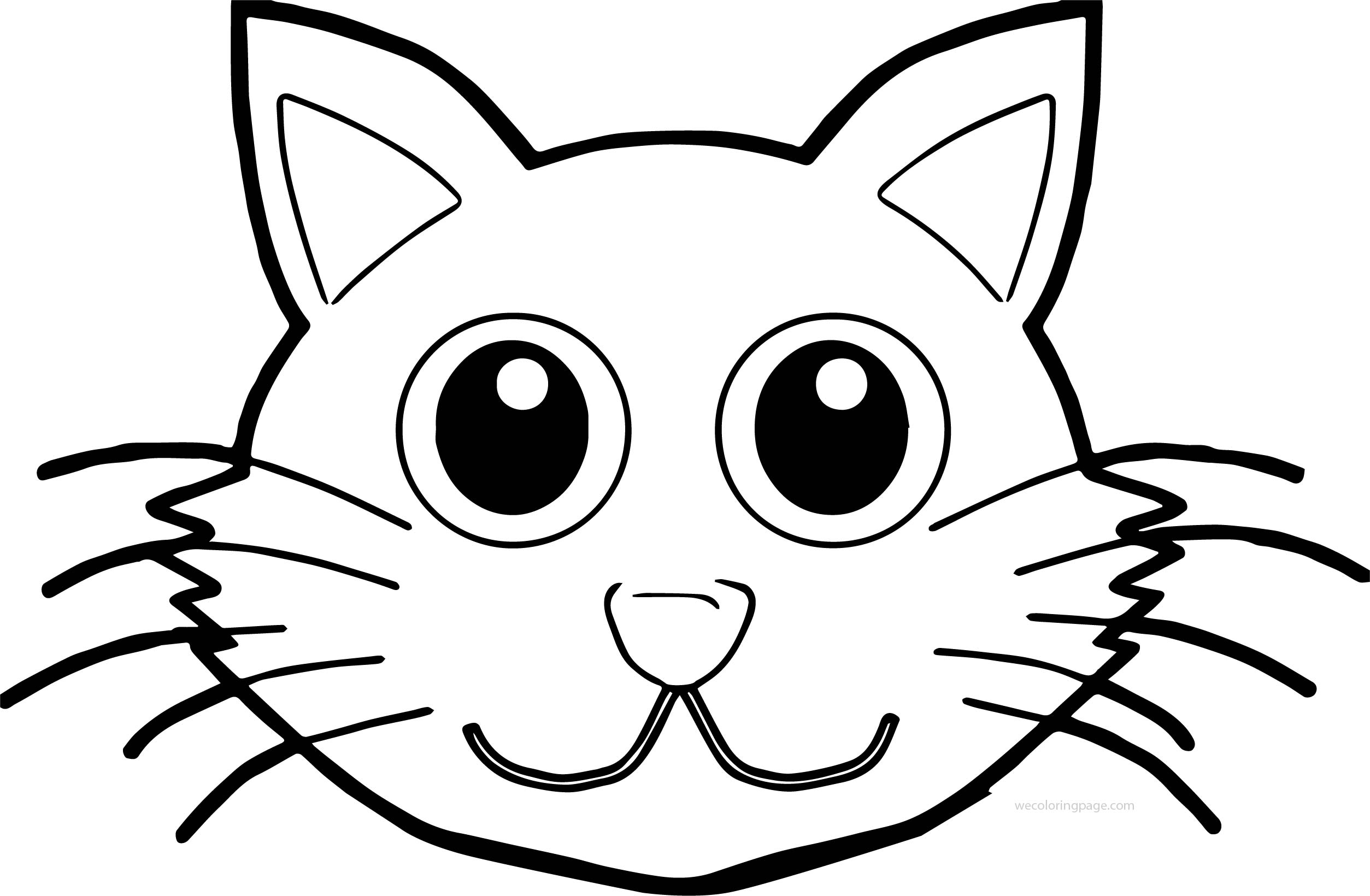 cat face coloring page cat face template clipartsco page cat face coloring