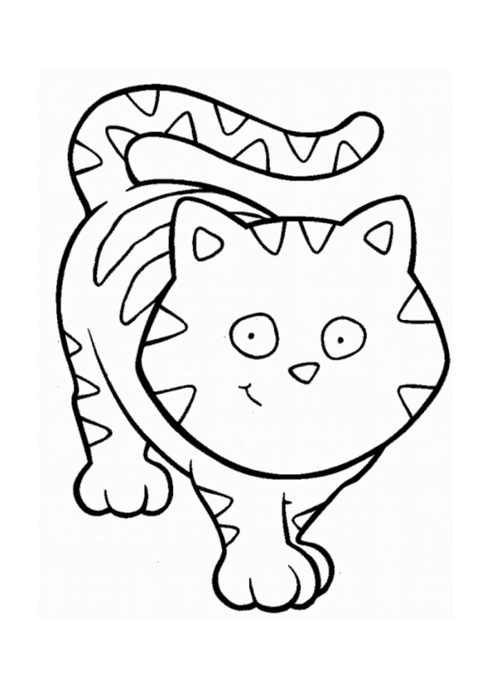 cat face coloring page easy cat face coloring coloring pages coloring cat face page