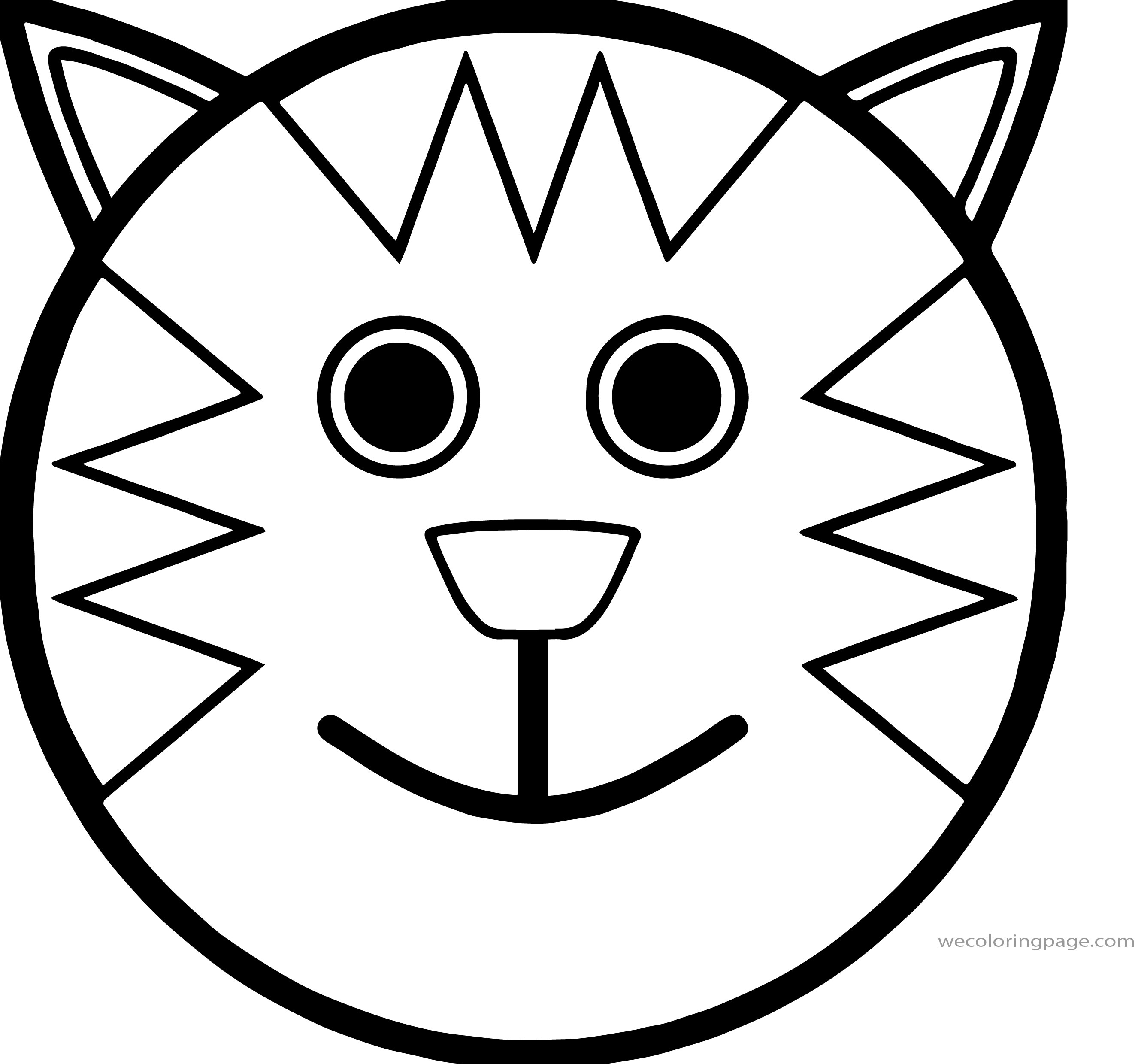 cat face coloring page easy cat face drawing at getdrawingscom free for coloring cat page face