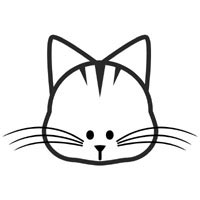 cat face coloring page kitten outline coloring page coloring home page cat face coloring