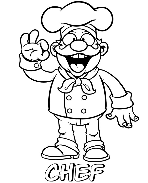 chef coloring page chef coloring page getcoloringpagescom chef page coloring