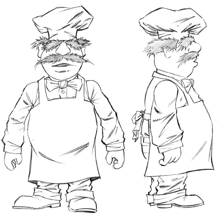 chef coloring page chef coloring page getcoloringpagescom page chef coloring 1 1