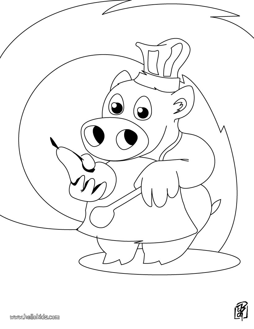 chef coloring page chef coloring pages hellokidscom coloring page chef