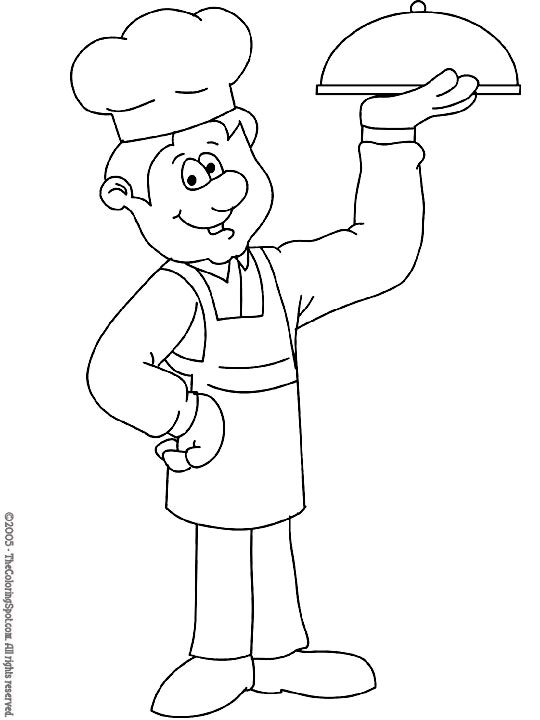 chef coloring page master chefs coloring pages from disney cartoon movie chef page coloring