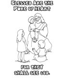 clean heart coloring page beatitudes coloring pages heart coloring clean page