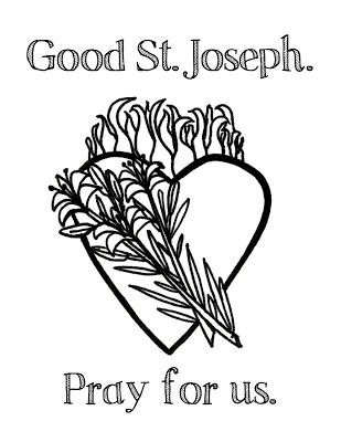 clean heart coloring page celebrating st joseph feast day ideas st joseph feast day coloring clean heart page