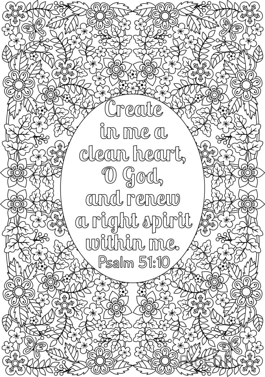 clean heart coloring page coloring page hand drawn create in me a clean heart page clean coloring heart