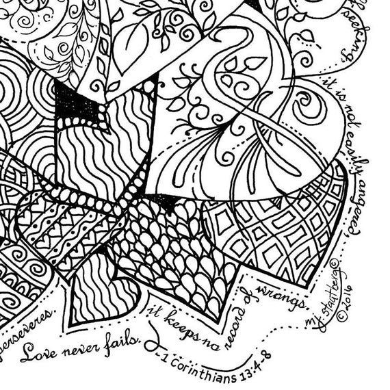 clean heart coloring page coloring page hand drawn love is patient hearts clean heart page coloring