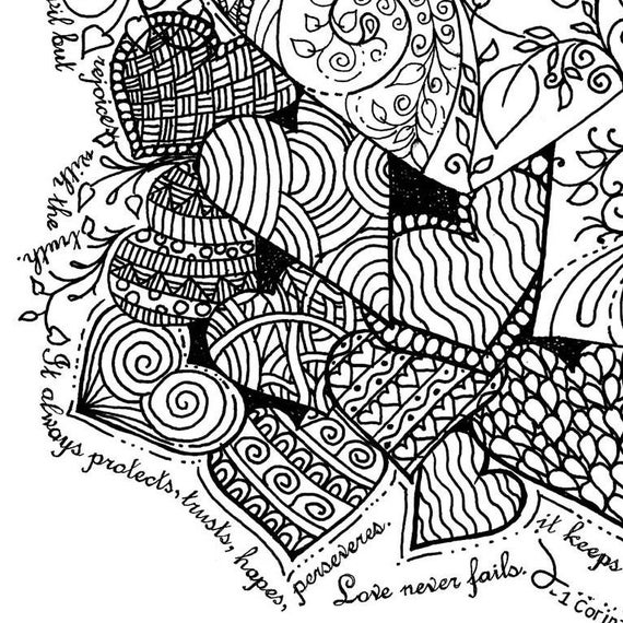 clean heart coloring page coloring page hand drawn love is patient hearts page coloring clean heart