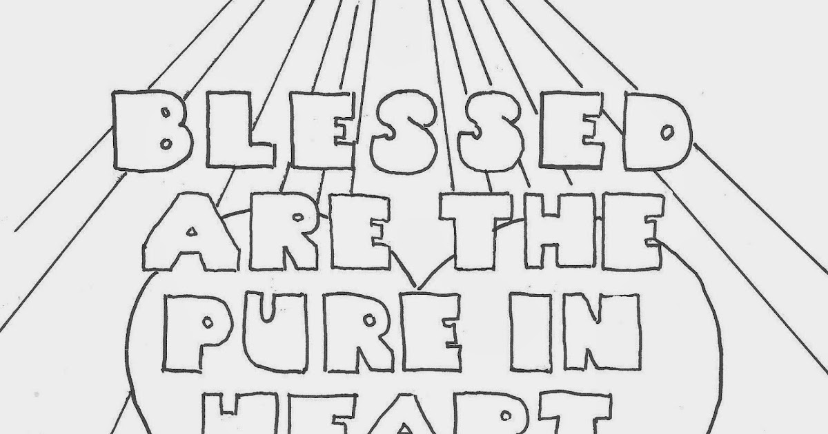 clean heart coloring page coloring pages for kids by mr adron blessed are the pure heart clean page coloring