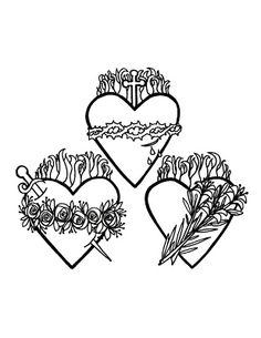 clean heart coloring page devotion to the sacred and immaculate hearts crafts clean page heart coloring