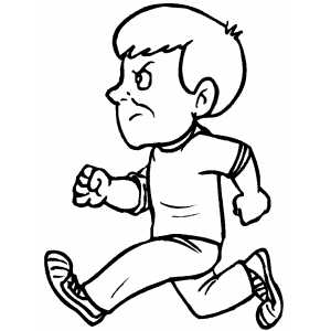 coloring boy running running coloring pages getcoloringpagescom coloring running boy