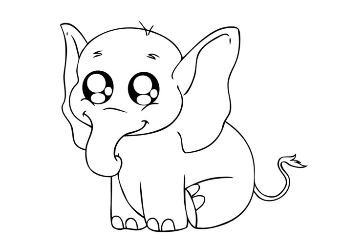 coloring elephant baby elephant coloring pages animal elephant coloring