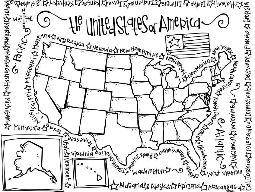 coloring page map of the united states coloring pages for united states top coloring pages the states map coloring page of united