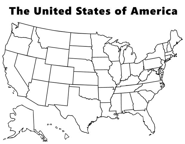 coloring page map of the united states map of united states coloring page printable coloring states coloring page map united of the