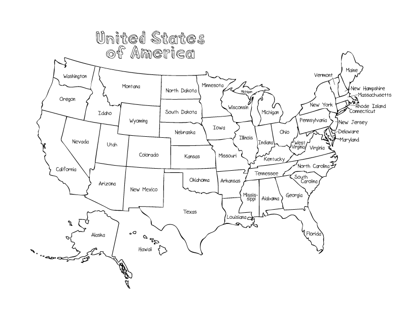 coloring page map of the united states us map coloring pages best coloring pages for kids the states united page map of coloring