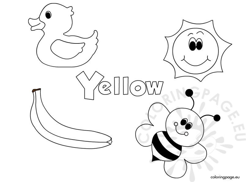 coloring pages yellow orange things colouring page pages coloring yellow