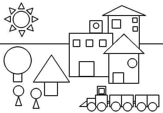 coloring pictures with shapes shapes coloring page preschool and homeschool pictures shapes coloring with