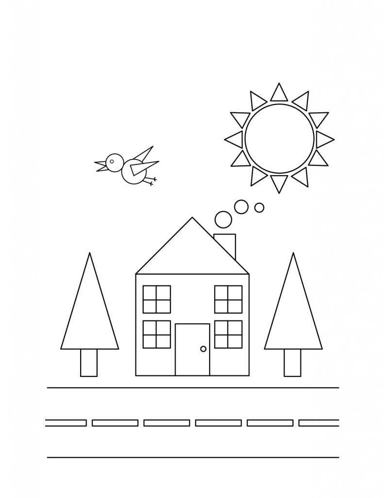 coloring pictures with shapes shapes coloring pages kidsuki with coloring shapes pictures