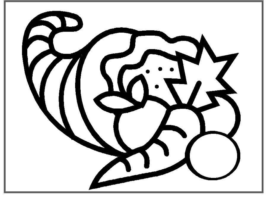 cornucopia coloring page cornucopia coloring pages to download and print for free cornucopia coloring page 1 1