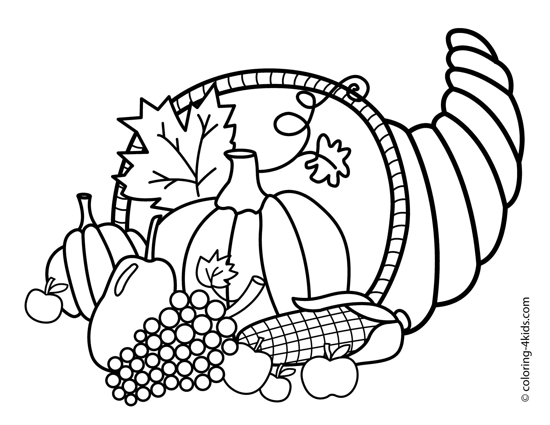 cornucopia coloring page thanksgiving coloring pages thanksgiving cornucopia page cornucopia coloring