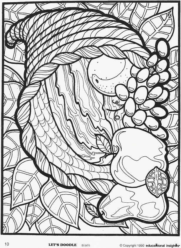 cornucopia coloring page use our free printable designs to keep kids of all ages page cornucopia coloring