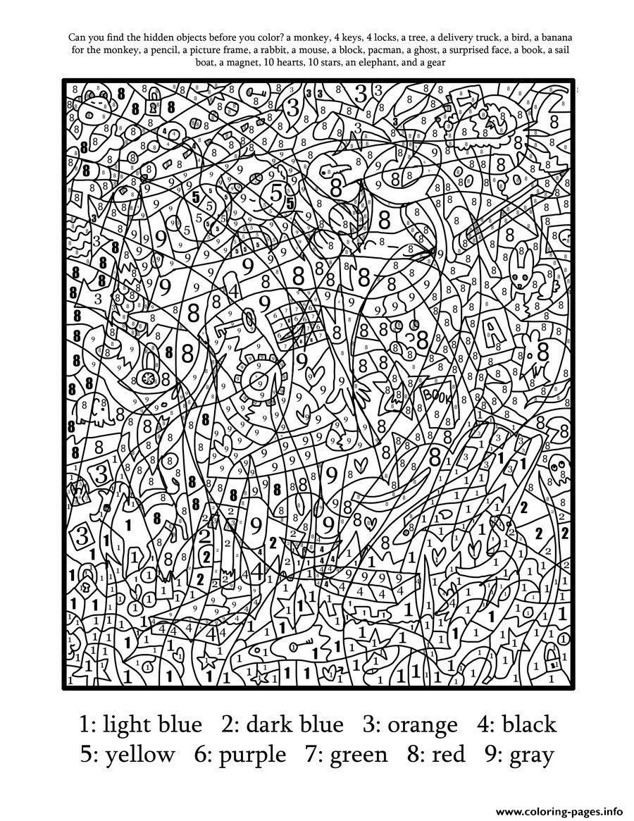 difficult colour by numbers difficult color number printables az coloring pages hard difficult by colour numbers
