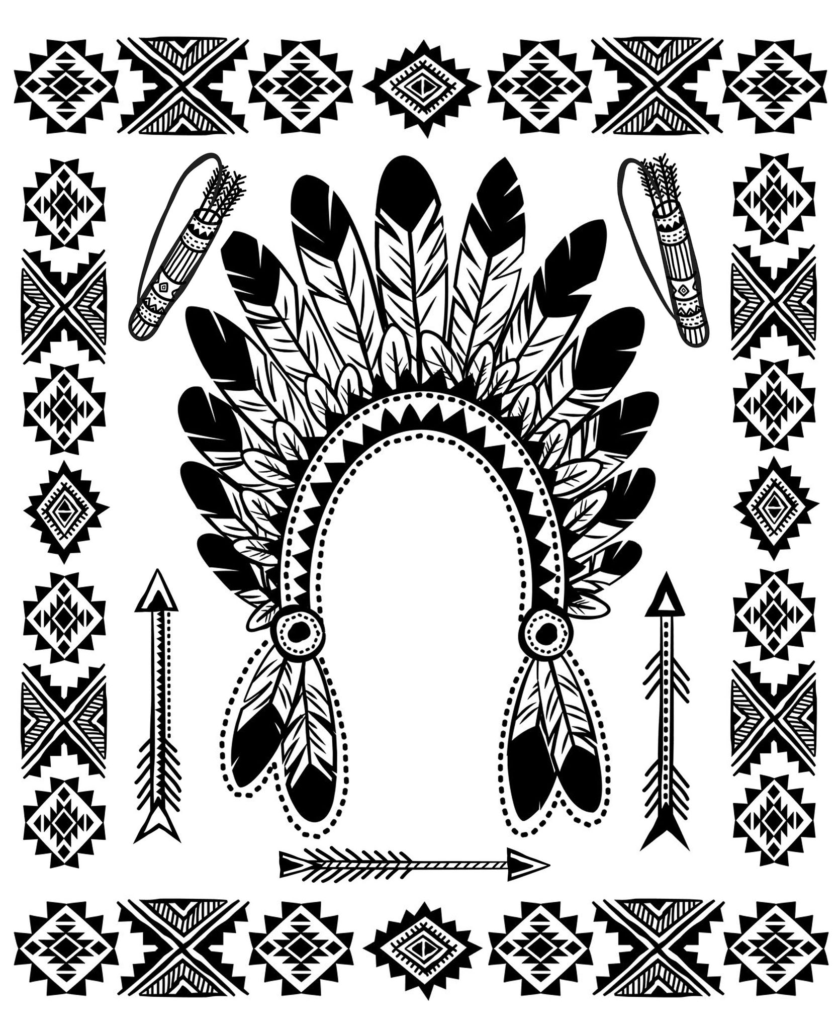 free printable native american coloring pages native american indian chief headdress native american printable pages native free american coloring
