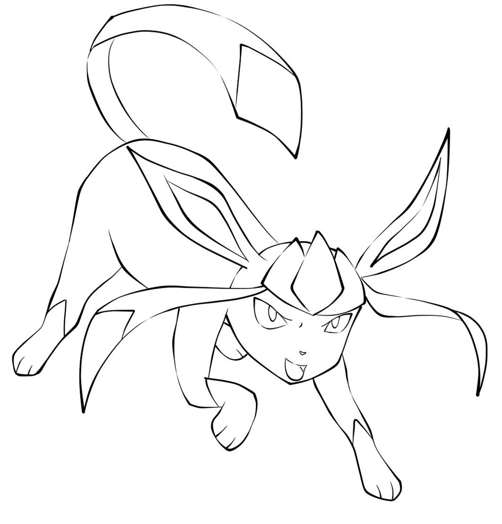 glaceon pokemon coloring pages glaceon coloring pages at getcoloringscom free coloring glaceon pages pokemon