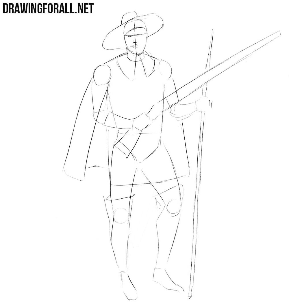 how to draw a dingo step by step how to draw a musketeer drawingforallnet by step to dingo a step how draw