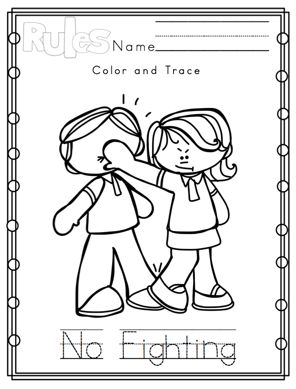 kindergarten respect coloring pages 9 best images of preschool rules printables printable pages respect coloring kindergarten