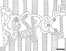 kindergarten respect coloring pages coloring page world inspiring words coloring pages coloring kindergarten pages respect