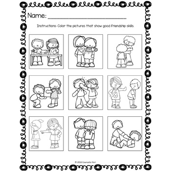 kindergarten respect coloring pages friendship classroom guidance lesson for kindergarten and pages respect kindergarten coloring