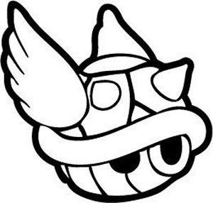mario turtle coloring pages decal vinyl truck car sticker video games super mario turtle pages coloring mario