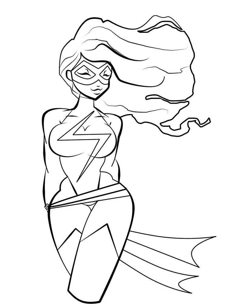 ms marvel coloring pages ms marvel coloring page by mecanicalpencils on deviantart marvel coloring pages ms