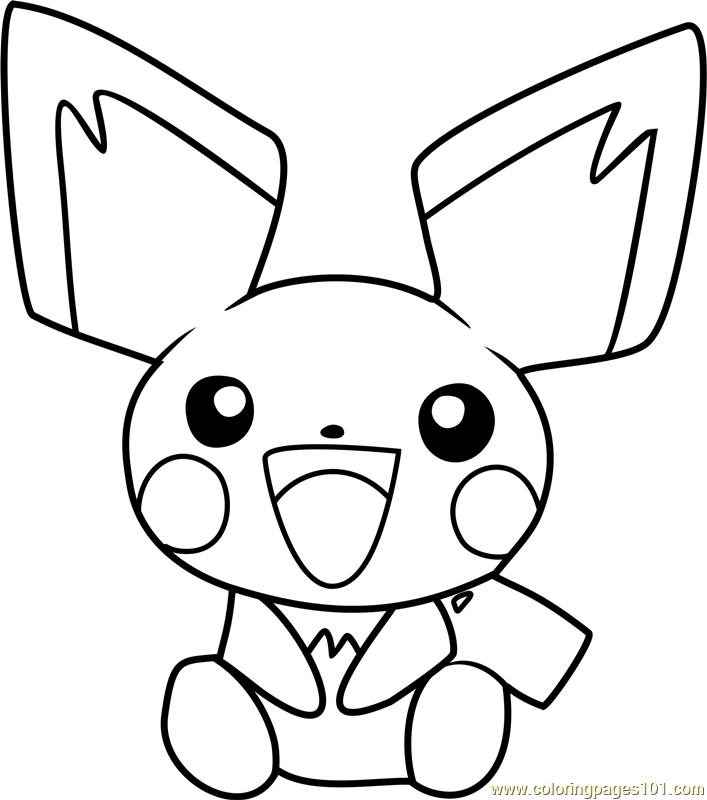 pichu coloring pages bothered pichu coloring page color luna pages pichu coloring