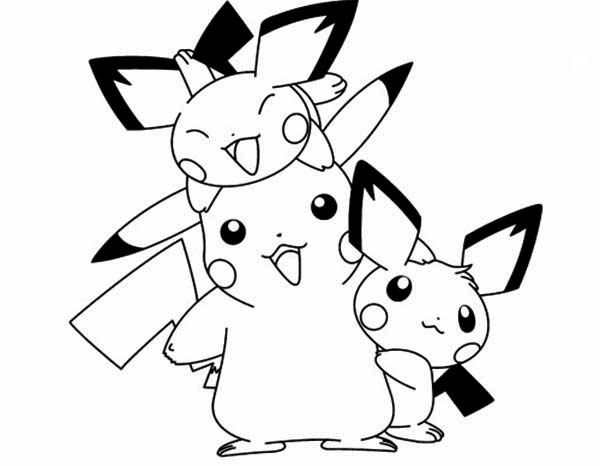 pichu coloring pages pichu and ligting coloring page color luna pages coloring pichu