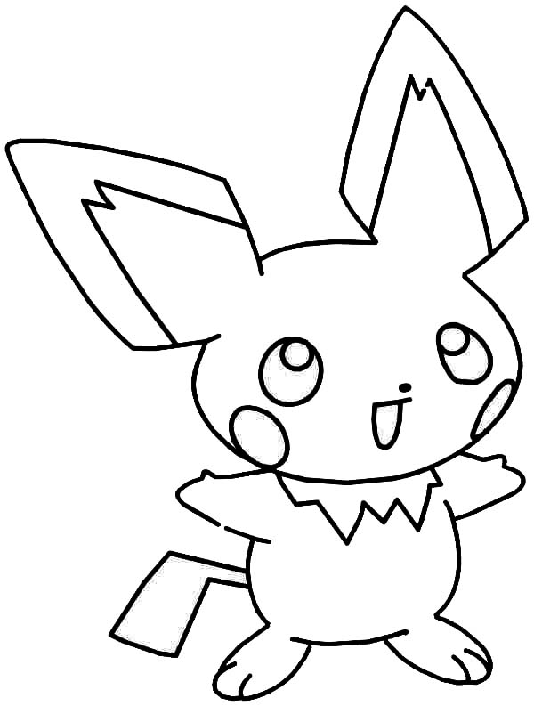 pichu coloring pages pikachu coloring pages 360coloringpages pages pichu coloring