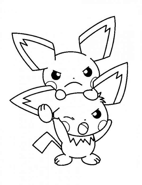 pichu coloring pages pikachu with his pichu friends pokemon coloring pages pichu pages coloring