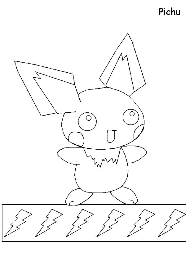pichu coloring pages pokemon advanced coloring pages pikachu coloring page pages pichu coloring