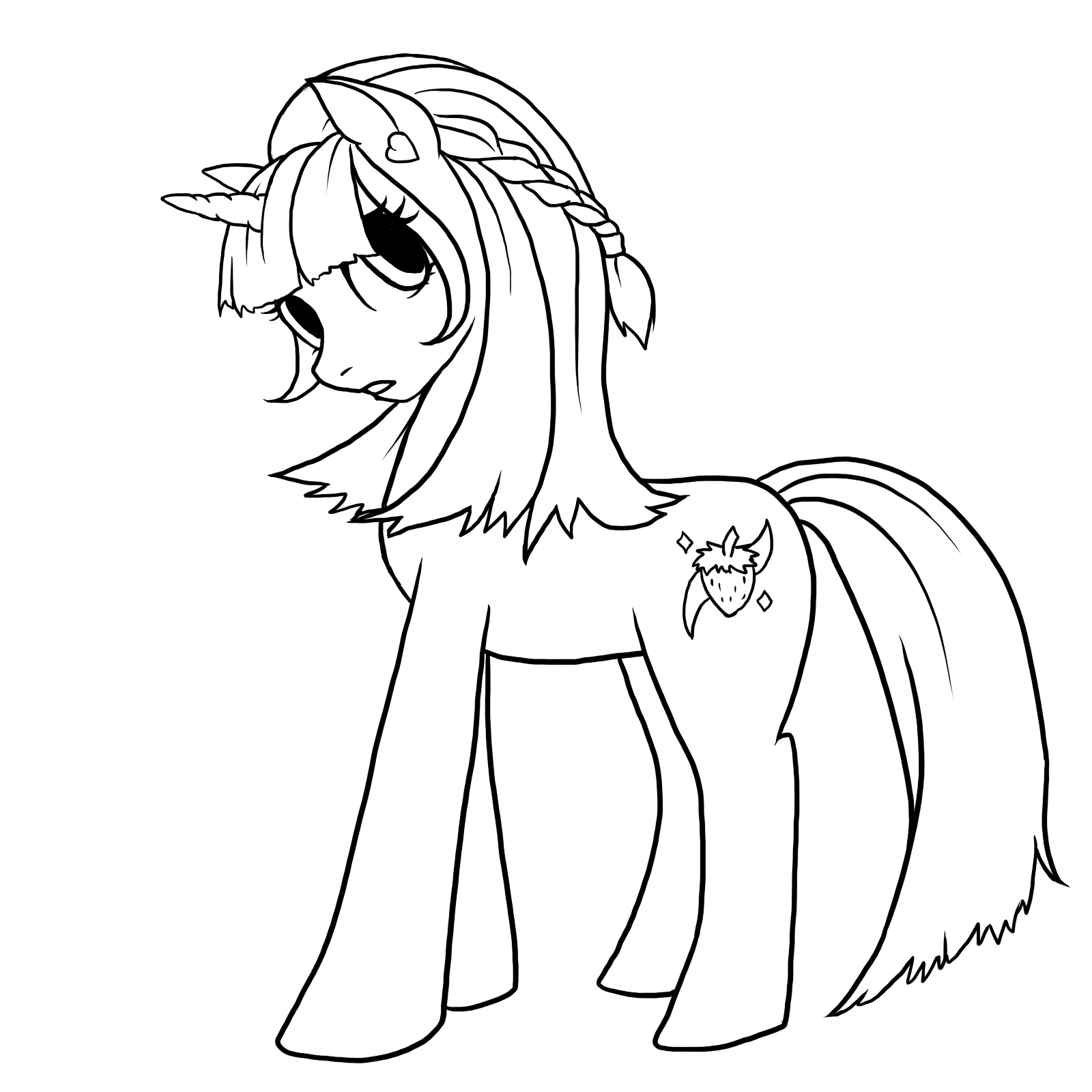 pony drawing draw elsa pony step by step drawing sheets added by pony drawing