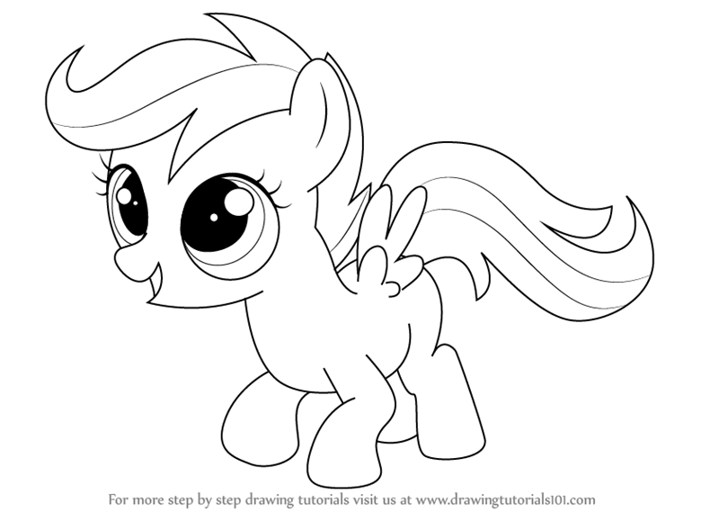 pony drawing how to draw apple bloom apple bloom my little pony step drawing pony