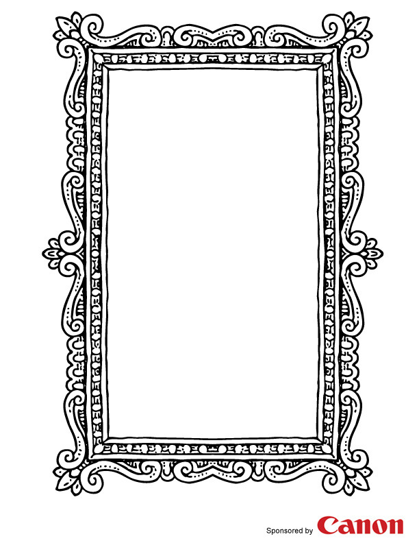 printable picture frames frame 4 free printable coloring pages frames picture printable